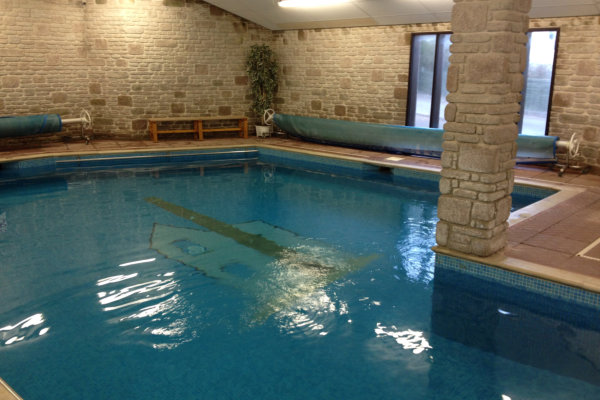 On site indoor swimming pool
